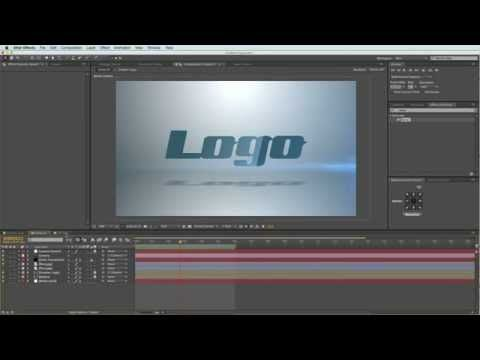After Effects - Adding a Glossy Look to your Logo Tutorial