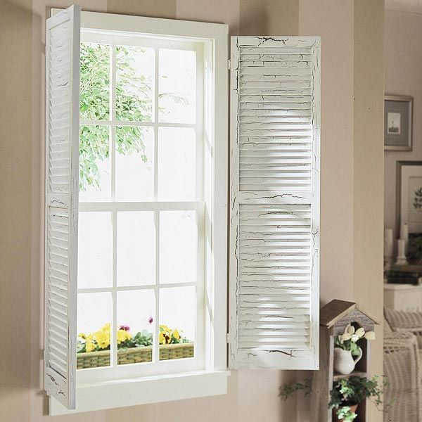 Best 25 indoor window shutters ideas on pinterest for Shutter window treatment ideas