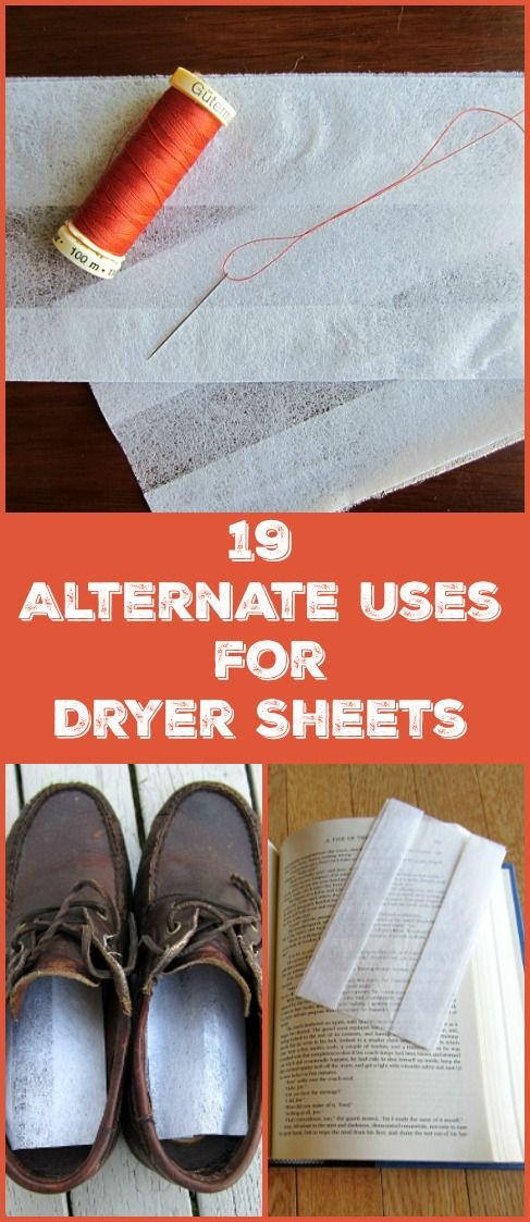 I've compiled a list of 19 alternate uses, tips and tricks for your laundry room's dryer sheets. Some are for unused dryer sheets, but many are for used dryer sheets. A great way to reduce, reuse and recycle!
