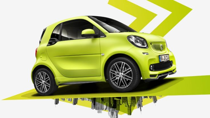 smart BRABUS tailor made – exterior, bodypanels y célula tridion en green-yellow