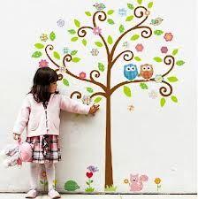 dibujos de arboles con buos de esticers para chicos que se puedan pegar en las paredes - Buscar con Google
