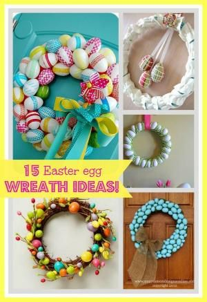 15 Easter Egg Wreath Ideas by mona