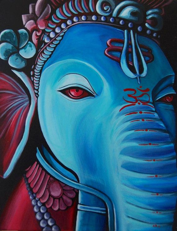 Ganesha 8 cm x 12 cm Print