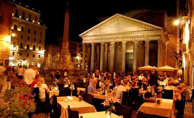 Vacsora a Pantheonnál