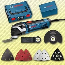 Bosch Multicutter GOP 300 SCE Multifunktionswerkzeug + L-Boxx + 8 tlg. Zubehör