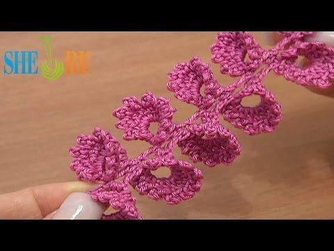 ▶ Crochet Twig With Bells Tutorial 40 3D Crochet Cord - YouTube