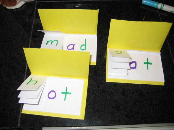 flip books to teach word family