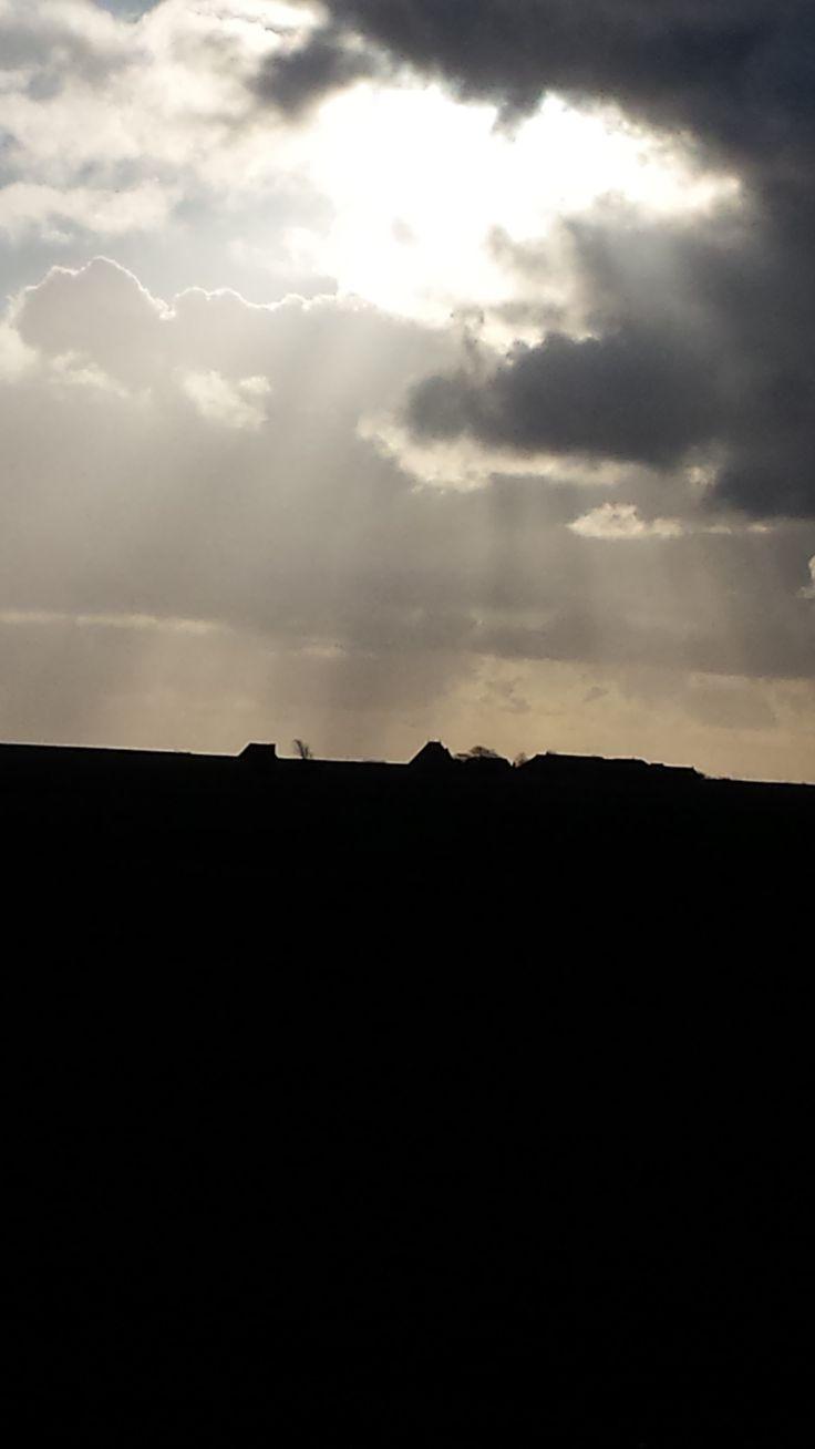 Een bewolkte dag in januari bij Formerum