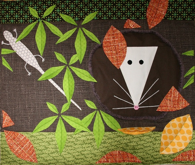 Charley Harper mouse quilt- I'd love this!  Love Charley Harper's animals.