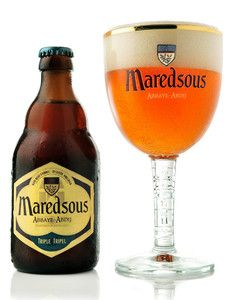 Maredsous Belgium beer - it is good and it is 10% alcohol