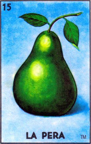 loteria, mexican, pear, la pera - Loteria Mexicana - Mexican Bingo