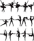 Silueta Bailarina Ballet Imágenes De Archivo, Vectores, Silueta Bailarina Ballet Fotos Libres De Derechos
