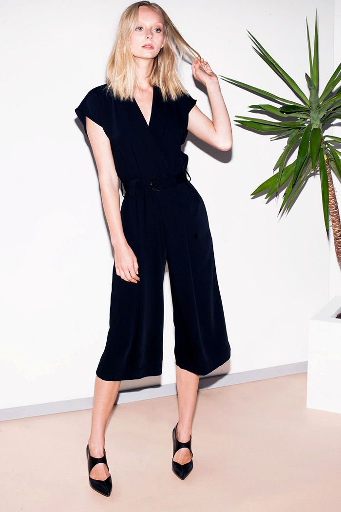 Smooth Twill Belted Jumpsuit