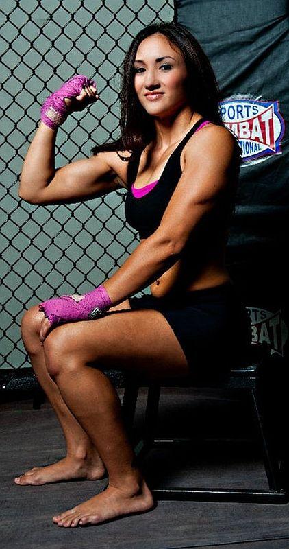 Female MMA fighter Carla Esparza