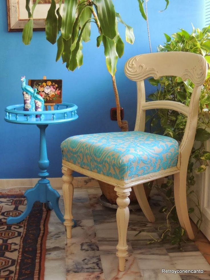 Velador turquesa y silla inglesa http://rastroconencanto.blogspot.com.es/2014/03/venta-comprar-tienda-velador-turquesa-vintage-retro.html http://rastroconencanto.blogspot.com.es/2014/01/venta-comprar-tienda-silla-inglesa-turquesa-vintage-retro.html