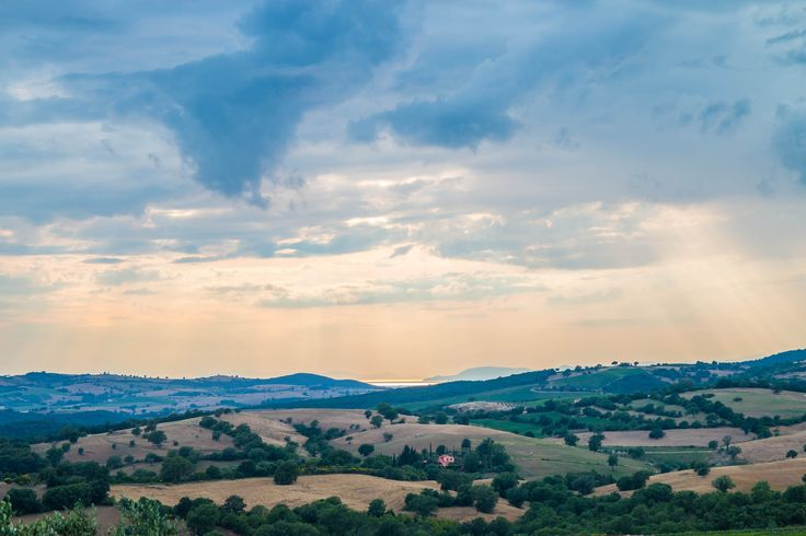 From the top of the hills in Maremma you can even look at the sea. Can you see it?   La Capitana, Tuscany