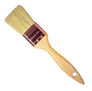 Borciani e Bonazzi : Thin Flat Lily Bristle Decorating Brush Copper Ferrule : 50 mm