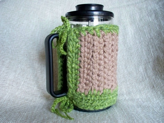 French Press Cozy Coffee Bodum by soulybarb on Etsy