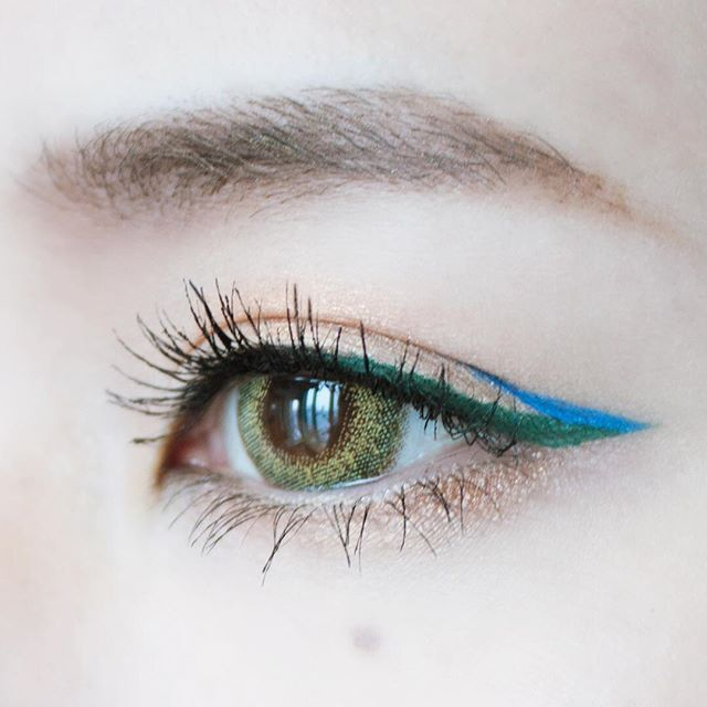 blue/green wing