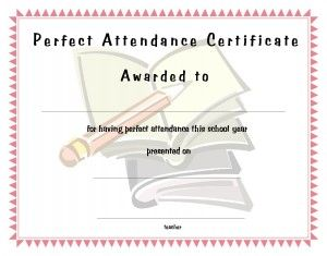 Free printable perfect attendance certificate free perfect certificate template for kids free printable certificate templates for school perfect attendance certificate templates yadclub Choice Image