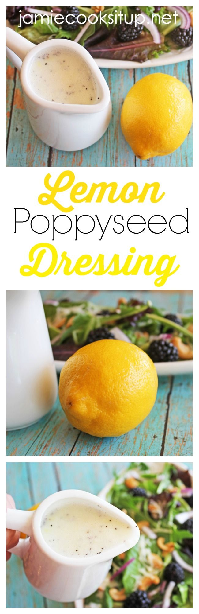 Lemon Poppyseed Dressing I Jamie Cooks It Up!  Note....made this 5/23/17. A little too sweet, but nice balance otherwise...bja