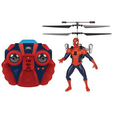 Marvel Ultimate Spider-Man Vs The Sinister 6 Jetpack 2-Channel IR RC Helicopter, Red