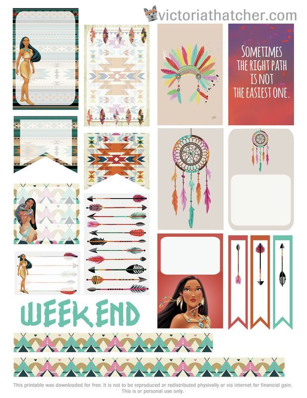 Free Pocahontas Planner Stickers | Victoria Thatcher