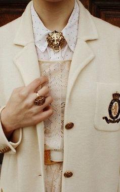 Collar clip & old school blazer