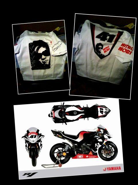 Shirt my,edic. Noriyuki Haga'like bike Donington park 2008 R1 Nitro Nori