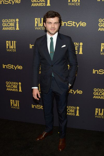 Actor Alden Ehrenreich arrives at the Hollywood Foreign Press Association and InStyle celebrate the 2017 Golden Globe Award Season at Catch LA on November 10, 2016 in West Hollywood, California.
