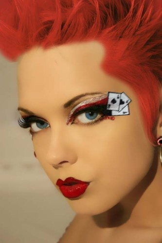 Xotic Eye Sexy Queen of Hearts Glitter Makeup Costume