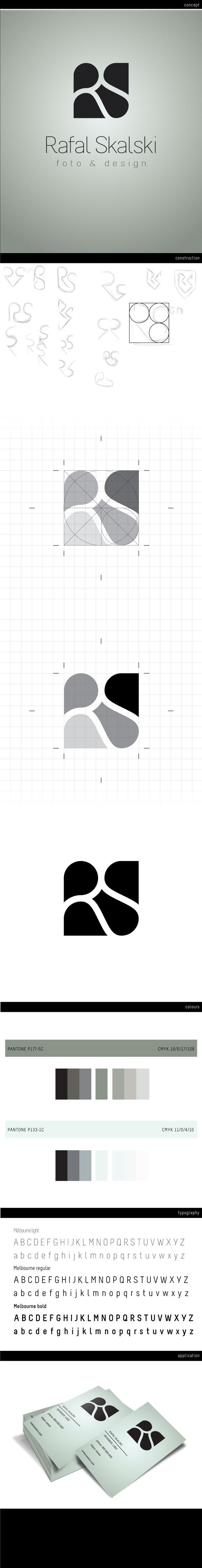 Rafal Skalski / logo / design / initials / white space / negative space / identity / sketches / process / steps to creating a logo. If you like UX, design, or design thinking, check out theuxblog.com