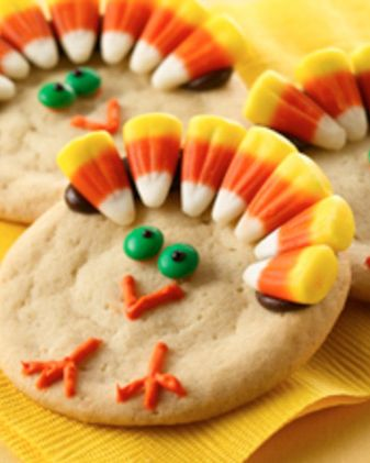 Crank up the cuteness with this easy and adorable Thanksgiving Turkey Cookies recipe. Pre-made cookie dough means you can save time mixing and focus on decorating cookies with candy corn, chocolate pieces and icing. For extra smiles, get the kids in on the cookie decorating fun. Find all the essential ingredients and bakeware you need for your Thanksgiving treats at Walmart.