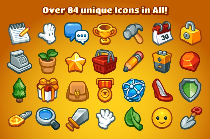 Casual Game Basic Icons Set by Vectricity Designs on @creativemarket