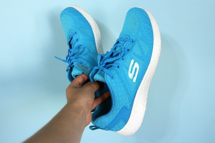 How about some sky-blue Skechers Burst to brighten your week?  http://spr.ly/6008B0Mq2