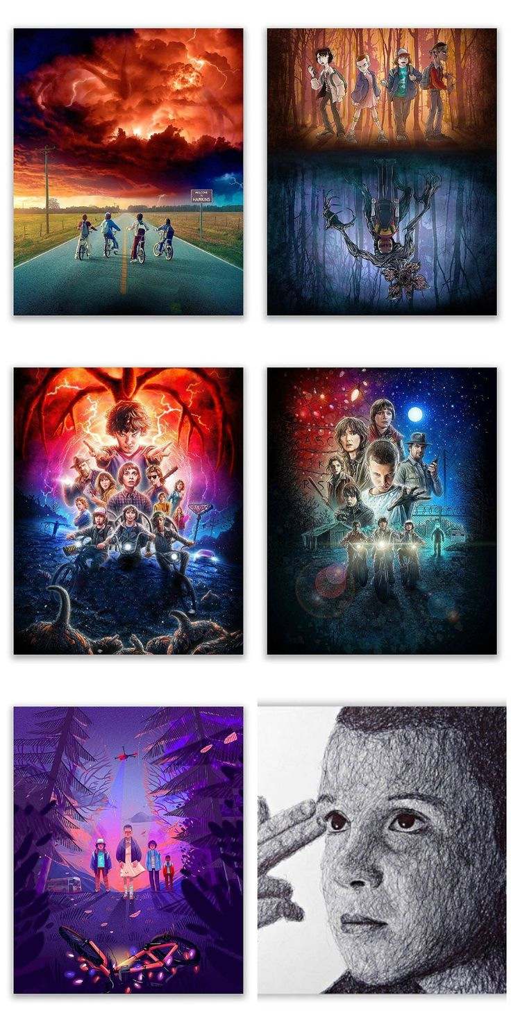 Stranger Things Netflix Poster Prints - Set of Six Season Two Photos. On Etsy. #ad #Etsy #strangerthings
