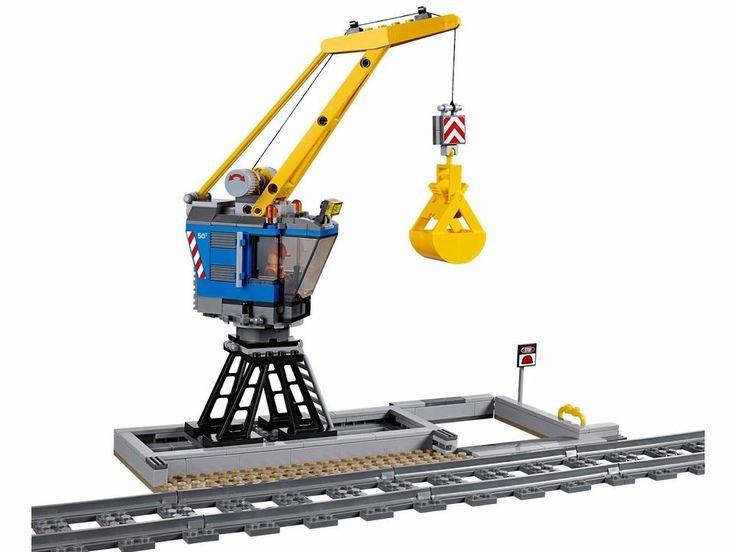 LEGO City Train Bucket Cargo Crane split from Heavy Haul Locomotive Train 60098 #LEGO