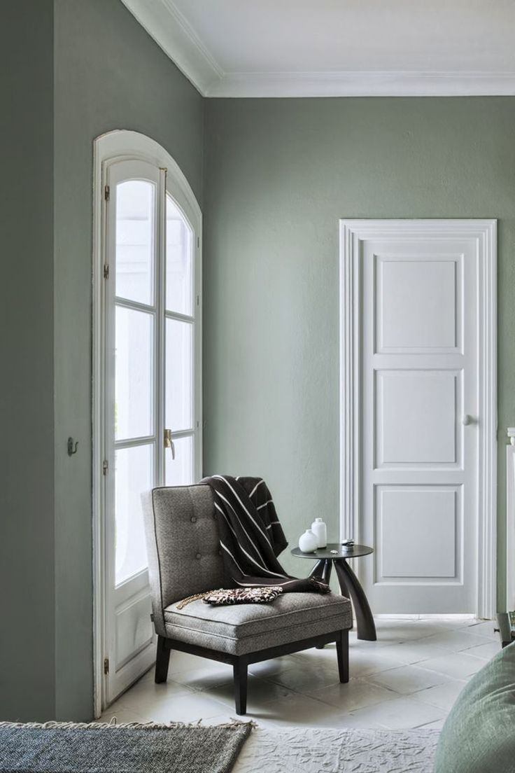 Grey and green living room - I M Calling My Newest Color Obsession Sage It S A Muted Gray Green
