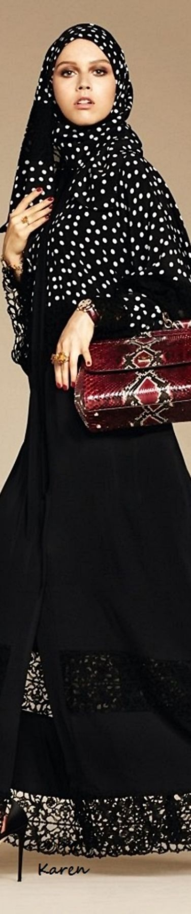 Dolce & Gabbana's Embellished Hijabs and Abayas Are Great News for Muslim…