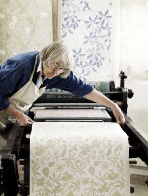 Martha Armitage, wallpaper artist, Andrew Montgomery photography