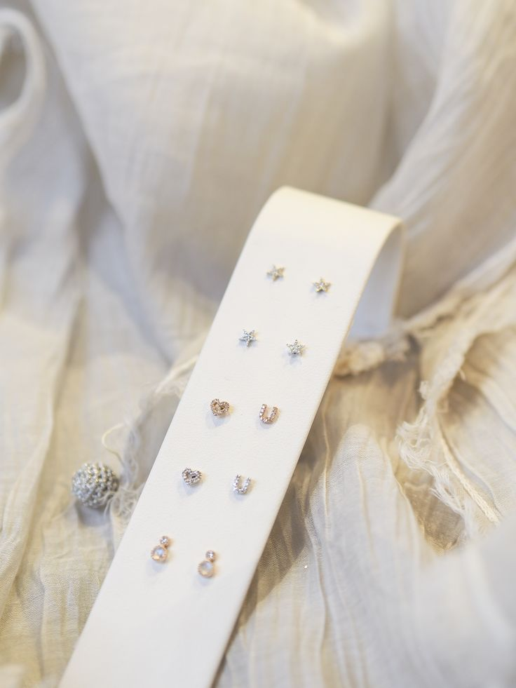 #studs #earrings #gold #14K #heart #petite #jewels