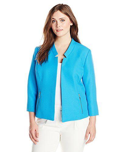 Kasper Women's Plus-Size Inverted Notch Pique Jacket with Metal Detail, Surf, 14W Kasper http://www.amazon.com/dp/B00TV1VF3U/ref=cm_sw_r_pi_dp_Ipy8vb1JKRGKQ
