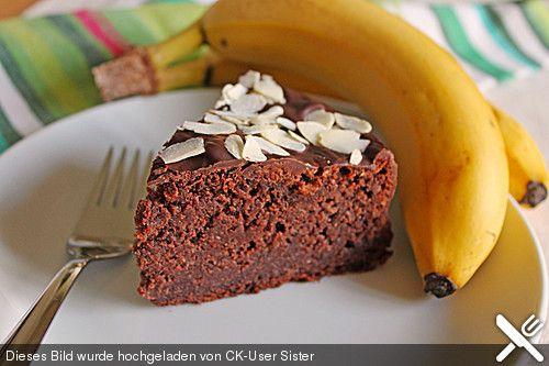 Single-Schoko-Bananenkuchen mit Pfiff saftiger Kuchen für eine 18er Springform oder eine 20er Kastenform