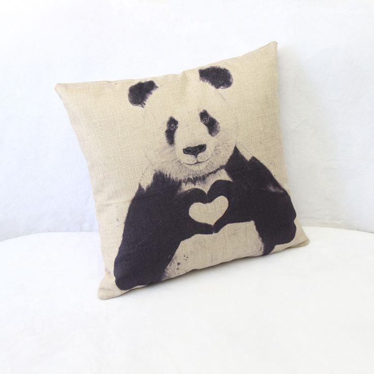 LHS Print Dining Chair Cushion 45x45cm Car Seat Cushions Home Decorative Pillow For Sofa Manufacturers Selling Cute Panda Cotton