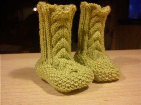 Bitte små strikkede støvler
