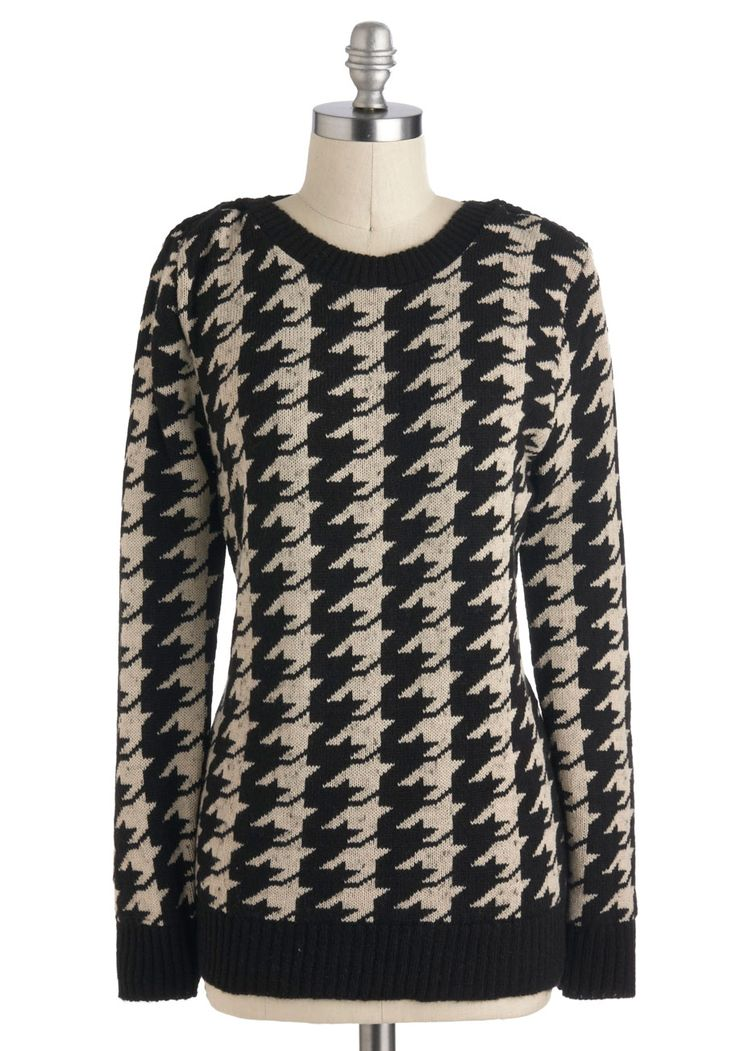 houndstooth sweater. love!