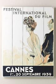 1939 Cannes Film Festival Wooden Sign