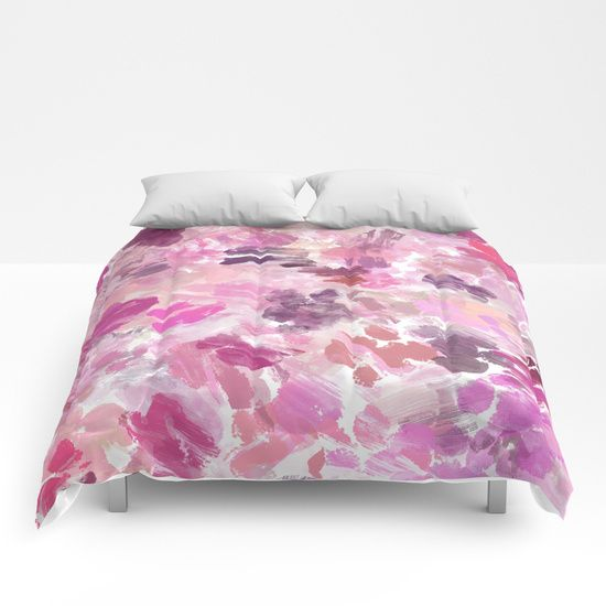Val Abstract Brushstrokes Comforters