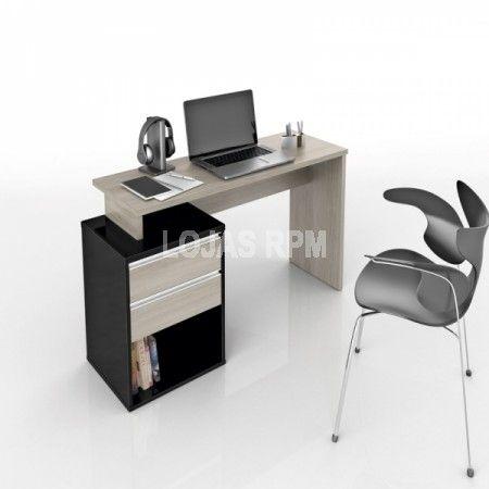 Mesa para Computador Connect - Móveis Bechara -Possibilidade de inversão de lado (direito/esquerdo) na montagem, -Gavetas com puxadores de alumínio, -Tampo de 25 mm R$289,90 10x de R$28,99 ou R$246,42 no Boleto ou Transferência