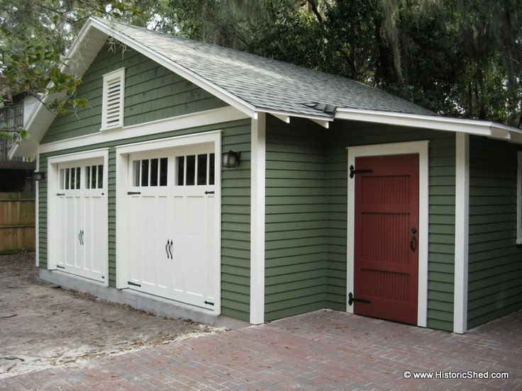 Charming Two And A Half Car Garage #5: Custom Two-Car Bungalow Garages